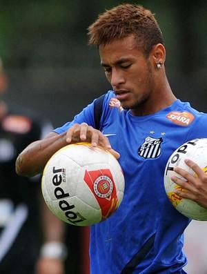Neymar santos treino (Foto: Ricardo Saibun / Divulgação Santos FC )