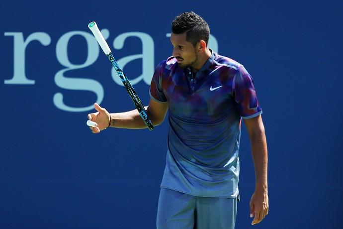 Nick Kyrgios na estreia do US Open: derrota precoce (Foto: Richard HEATHCOTE / GETTY IMAGES NORTH AMERICA / AFP)