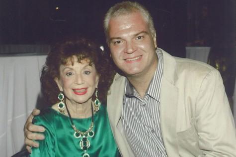 Mauro Alencar com Delia Fiallo (Foto: Arquivo pessoal)