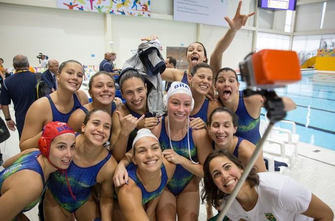 Bronze Polo Aquatico feminino Brasil Pan-Americano (Foto: Jonne Roriz/Exemplus/COB)