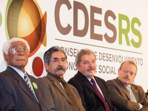 Reunião do Pleno do Cdes-RS com a participação do ex-presidente Lula (Foto:  Claudio Fachel/Palácio Piratini)