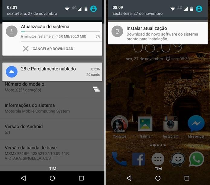 Comece o download do Android 6.0 (Foto: Felipe Alencar/TechTudo)