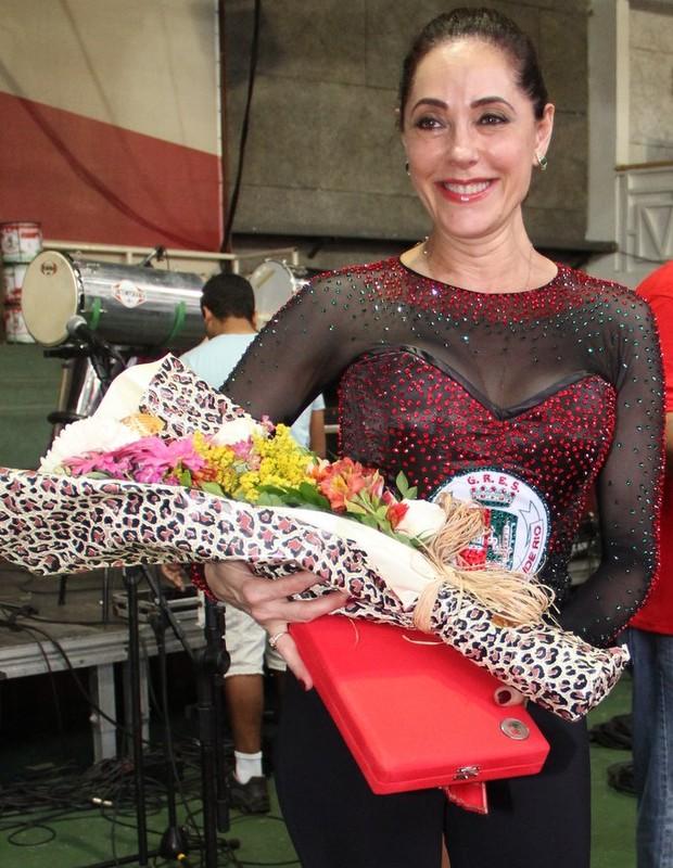 Christiane Torloni - atriz foi homenageada da Grande Rio  (Foto: Rodrigo dos Anjos / AgNews)