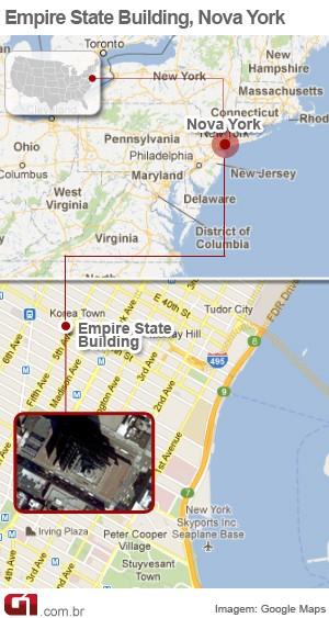 vale este - mapa empire state nova york 2 (Foto: Arte/G1)