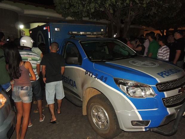 Morte de filha de ex-vereador em Brumado, na Bahia (Foto: Lay Amorim/Brumado Notícias)