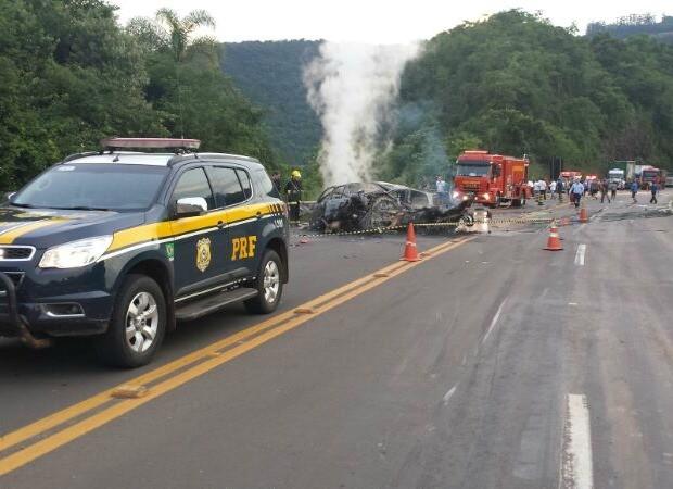 Acidente Pouso Novo RS (Foto: PRF/Divulgação)