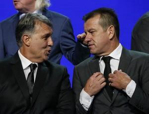 Tata Martino e Dunga sorteio da Copa América