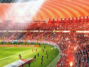 Iluminação estádio Beira-Rio (Foto: HypeStudio/Divulgação)