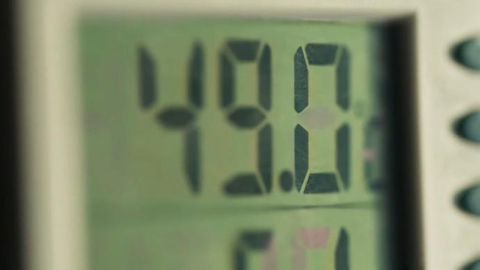 Participantes tinham que se submeter à temperaturas elevadas (Foto: TV Globo)
