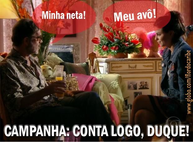 Duque e Amaralina (Foto: Flor do Caribe/TV Globo)