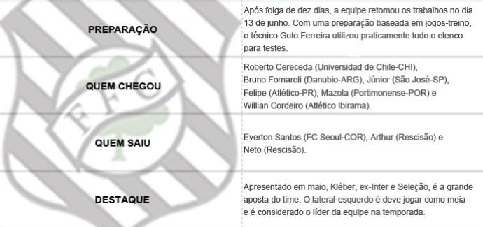 Pacotão dos Clubes - Figueirense (Foto: Editoria de Arte)