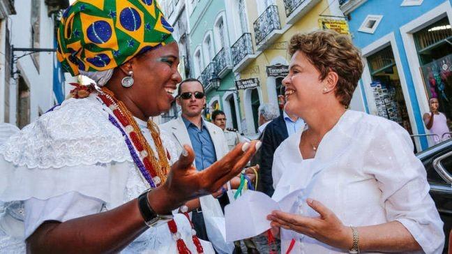 Dilma Rousseff na Casa de Cultura do Pelourinho, Salvador, BA  (Foto: Ichiro Guerra)