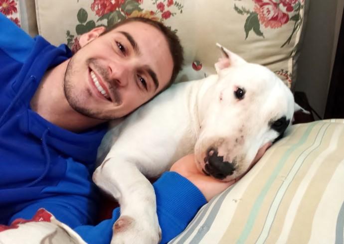 Arthur Zanetti cachorra Ivi (Foto: Arquivo pessoal)