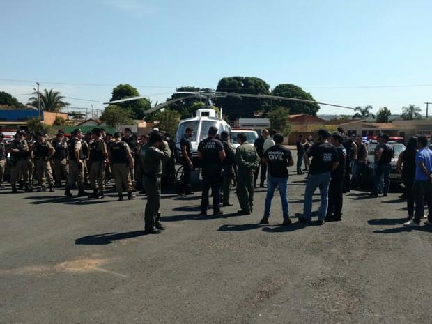 Operação em Pompéu (Foto: Polícia Militar/Divulgação)