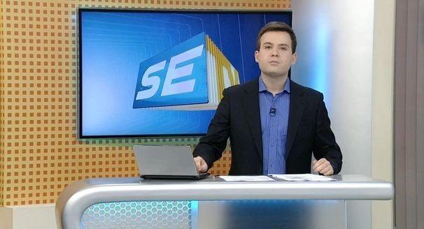 Lyderwan Santos apresenta o SETV 1ª Edição (Foto: Divulgação / TV Sergipe)