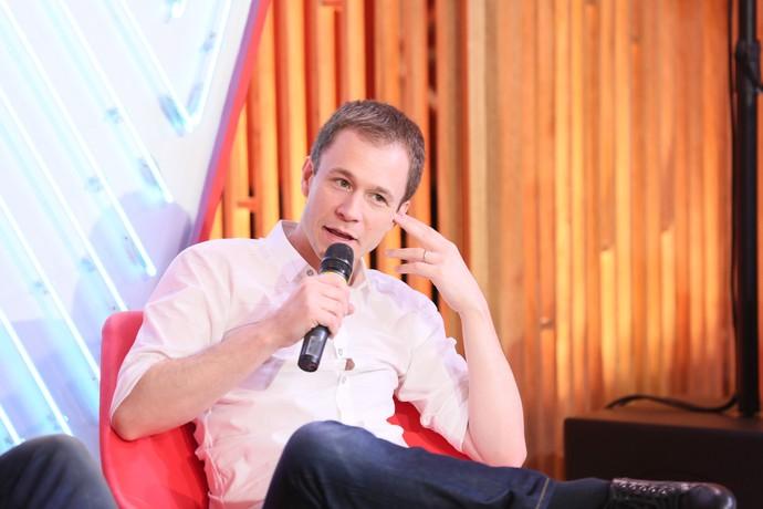 Tiago Leifert em coletiva de imprensa do The Voice Kids (Foto: Isabella Pinheiro/Gshow)