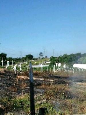 Foco de calor registrado na Avenida das Torres, Zona Norte de Manaus (Foto: Divulgação/Semmas)