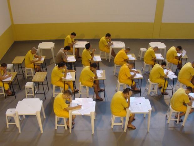 Aplicação da prova no Complexo Penitenciário do Vale do Itajaí (Foto: Deap/Divulgação)
