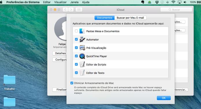 Envia todos os seus documentos do Mac para o iCloud (Foto: Reprodução/Felipe Vinha)