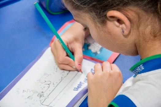 Aluna de Educação infantil (Foto: Felipe França)