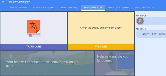 Selecione entre quais idiomas você quer traduzir (Foto: Reprodução/Google)