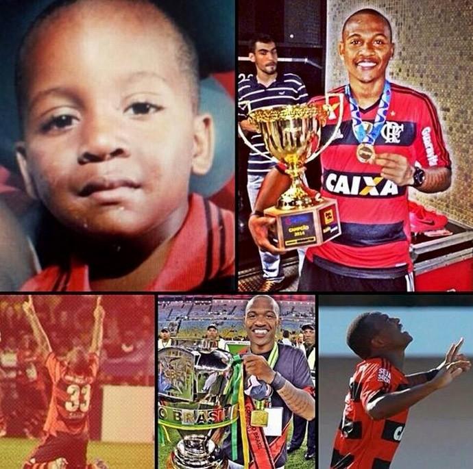 Samir 1 ano Profissional do Flamengo  (Foto: Reprodução / Facebook)