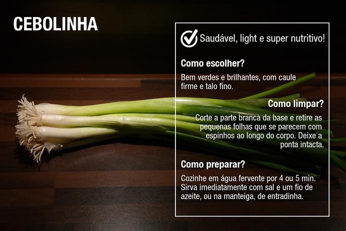 Peça cebolinhas com a parte branca do maior tamanho possível (Foto: Divulgação)
