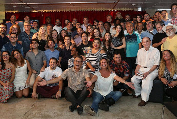 Elenco de Zorra na coletiva de imprensa (Foto: Fabiano Battaglin / Gshow)