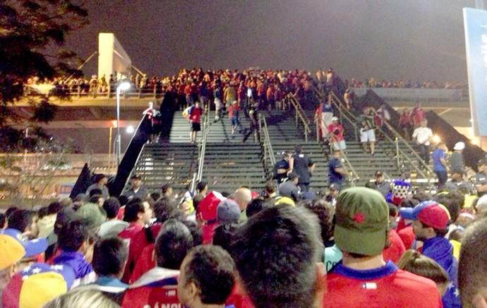 Maracanã - pacotão do estádio - Chile x Espanha (Foto: Luciano Ribeiro)