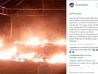 Banheiros químicos são queimados na Boca do Rio e prefeito lamenta
