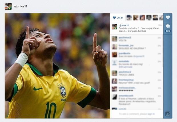 Neymar post Instagram (Foto  Reprodução Instagram) 6c785830c5d6a