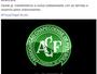 Boa Esporte divulga nota lamentando acidente em voo da Chapecoense
