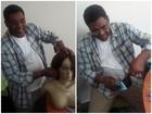Após levar neta a hospital de câncer, avô decide fazer perucas para doação