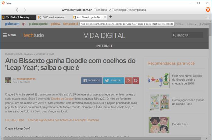 Pré-visualização de páginas (Foto: Felipe Alencar/TechTudo)