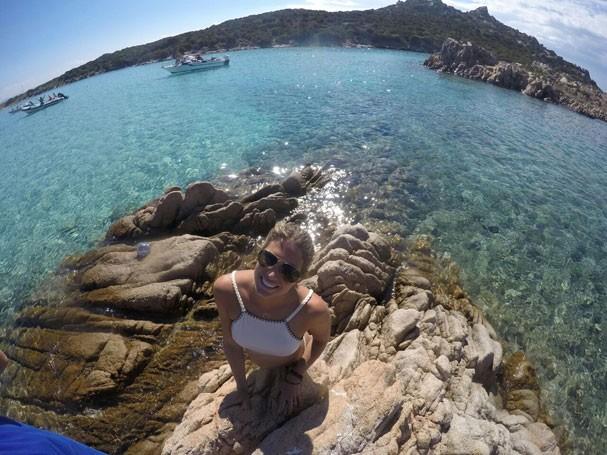 Branca Feres na Sardenha (Foto: Arquivo Pessoal)