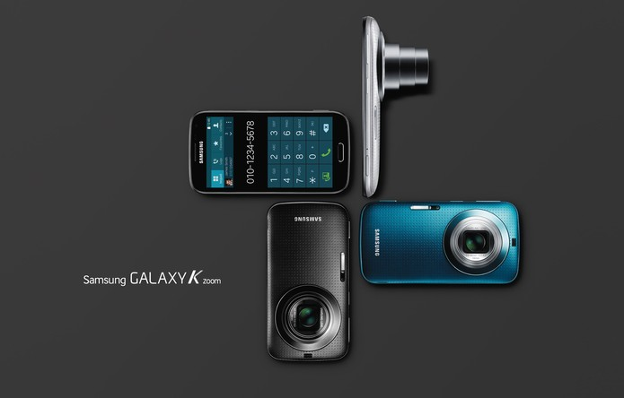 O Galaxy K Zoom é o novo aparelho da Samsung com um câmera poderosa de 20,7 megapixels (Foto: Divulgação/Samsung)
