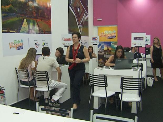 Feirão de agências de viagens tenta subir volume de vendas em Campinas (Foto: Edvaldo de Souza / EPTV)