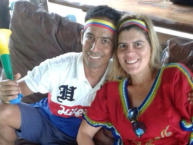 Carlos Federico, colombiano e Milena Freire, brasileira; São Miguel do Gostoso; Rio Grande do Norte (Foto: Arquivo pessoal/Cedida)