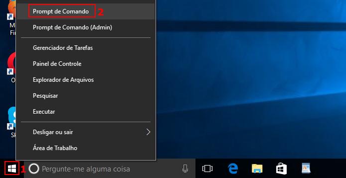 Acessando o Prompt de Comando do Windows 10  (Foto: Reprodução/Edivaldo Brito)