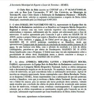 Recurso Reis do Badminton contra Bolsa Atleta Muncipal (Foto: Divulgação)