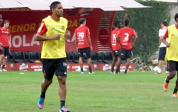cleber santana flamengo treino (Foto: Richard Souza / Globoesporte.com)