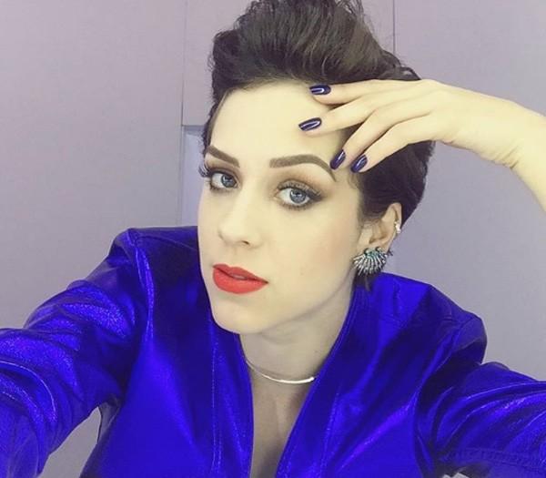 O cabelo estilizado de Sophia Abrahão (Foto: Reprodução/Instagram)