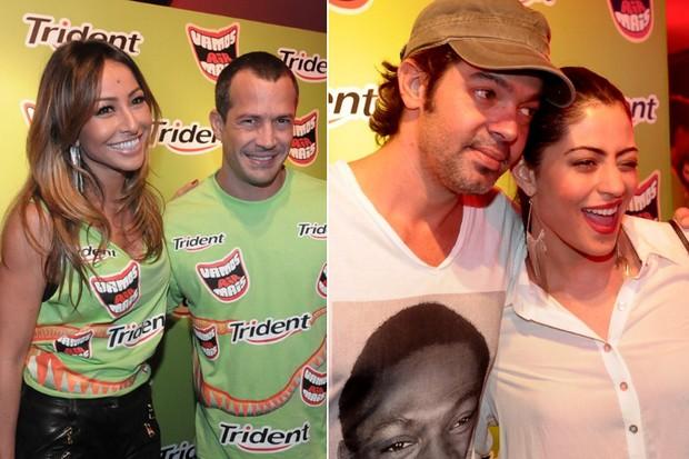 Bruno Mazzeo, Carol Castro, Sabrina Sato e Malvino Salvador (Foto: Francisco Cepeda / AgNews)
