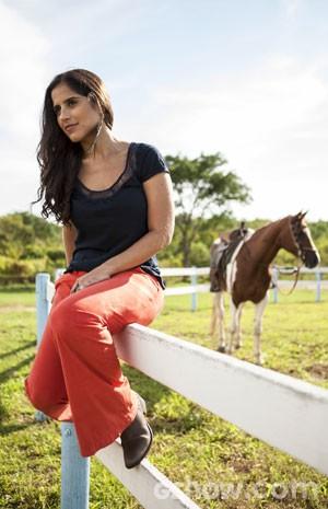 Camilla superou medo de cavalos (Foto: Inácio Moraes / TV Globo)