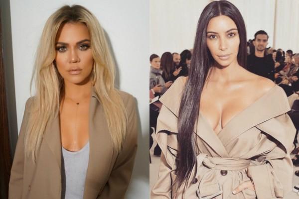 Khloe e Kim Kardashian (Foto: Reprodução Instagram)