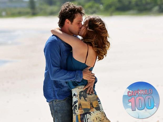 Na pele dos personagens, Nathalia Dill e Sergio Guizé protagonizam romance (Foto: Isabella Pinheiro/ Gshow)