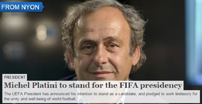Platini eleição Fifa (Foto: Reprodução/Uefa.com)