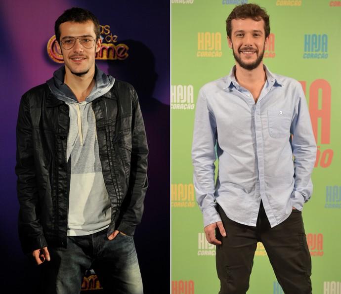 Antes e depois de Jayme Matarazzo: em 'Cheias de Charme' e em 'Haja Coração' (Foto: Gshow)