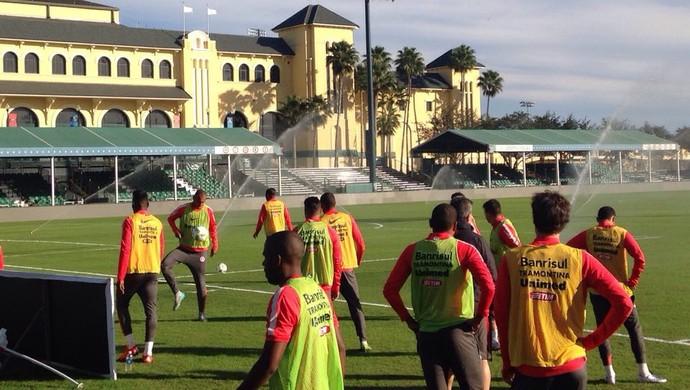 Inter treino Florida Estados Unidos EUA (Foto: Glauco Pasa / RBSTV)