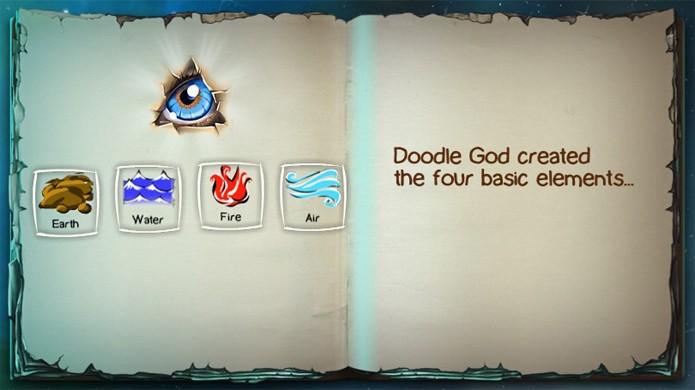 Doodle God é o criador de todos os elementos no jogo (Foto: Reprodução)
